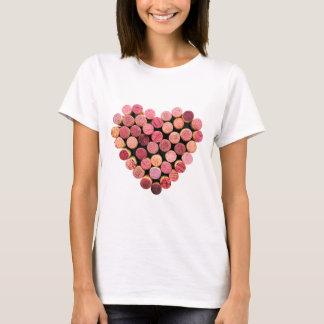 T-shirt Chemise de coeur de liège de vin