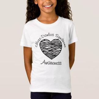 T-Shirt Chemise de coeur de zèbre de conscience de