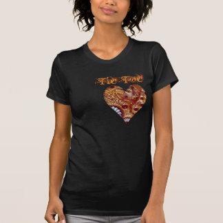 T-shirt Chemise de coeur d'horloge de Steampunk