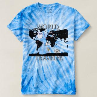 T-shirt Chemise de colorant de cravate de voyageur du