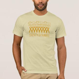 T-shirt Chemise de conscience de Cancer d'enfance