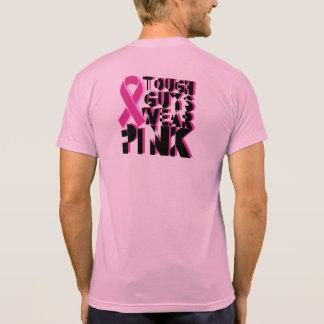 T-shirt Chemise de conscience de cancer du sein de gars