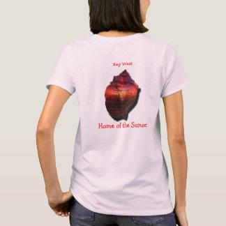 T-shirt Chemise de coucher du soleil de conque de Key West