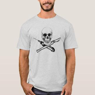 T-shirt Chemise de couleur claire de crâne et de seringue