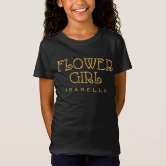 T-Shirt Chemise de coutume de scintillement de Faux d'or