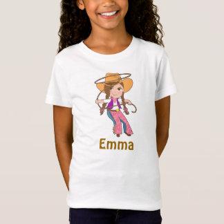 T-Shirt Chemise de cow-girl de brune avec le nom