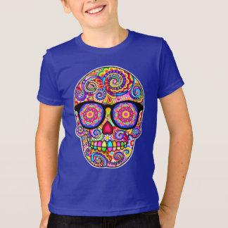 T-shirt Chemise de crâne de sucre de hippie - jour des