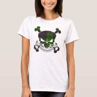 T-shirt Chemise de crâne de tartan d'Abercrombie