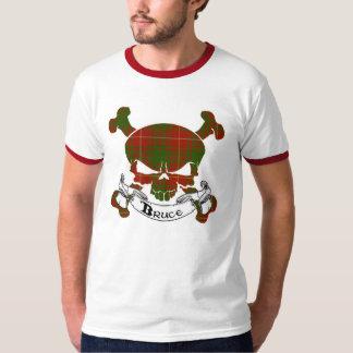 T-shirt Chemise de crâne de tartan de Bruce
