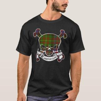 T-shirt Chemise de crâne de tartan de Carnegie
