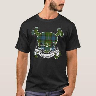 T-shirt Chemise de crâne de tartan de Ferguson
