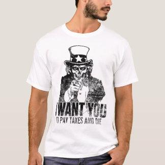 T-shirt Chemise de crâne d'Oncle Sam