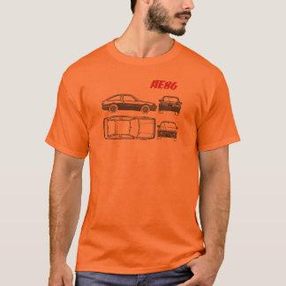 T-shirt chemise de croquis de mise au point de Toyota