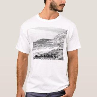 T-shirt Chemise de croquis de rivage d'Acadia