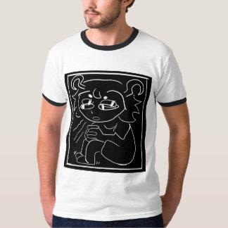 T-shirt chemise de cube en inquiétude