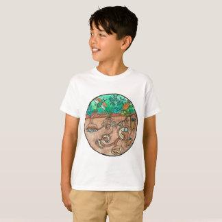 T-shirt Chemise de cycle de vie de scarabée d'enfants
