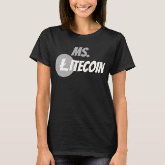 T-shirt Chemise de Cyrptocurrency LTC de chaîne de bloc de