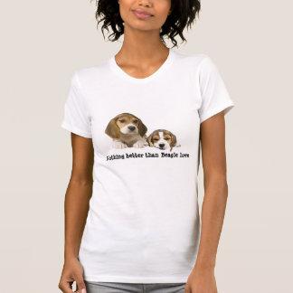 T-shirt Chemise de dames d'amis de beagle