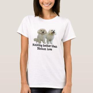 T-shirt Chemise de dames d'amis de Bichon