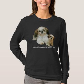 T-shirt Chemise de dames d'amis de Shih Tzu