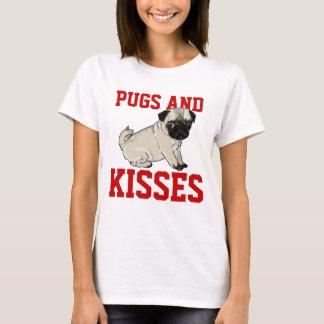 T-shirt Chemise de dames de carlins et de baisers
