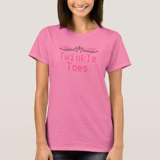 T-shirt Chemise de danse d'orteils de scintillement par