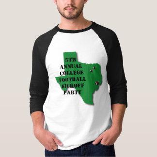 T-shirt Chemise de début du football d'université
