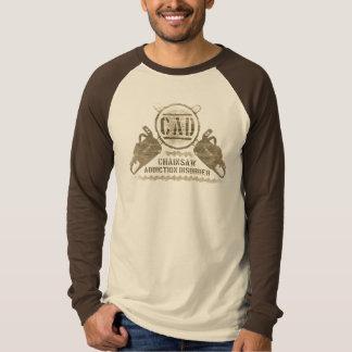 T-shirt Chemise de désordre de dépendance de tronçonneuse