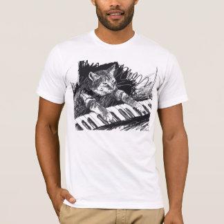 T-shirt Chemise de dessin au crayon de chat de clavier !