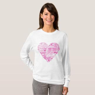 T-shirt Chemise de douille de coeur d'IMHM longue
