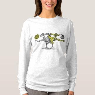 T-shirt Chemise de douille de couleur d'oiseau de Hermes