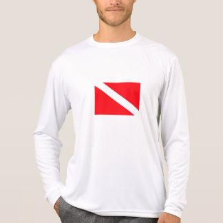 T-shirt Chemise de douille de drapeau de piqué longue