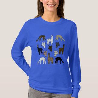 T-shirt Chemise de douille de roche d'alpaga longue