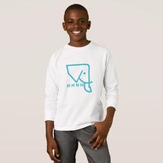 T-shirt Chemise de douille d'éléphant bleu du MMNH des