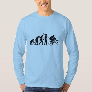 T-shirt Chemise de douille d'évolution de vélo longue