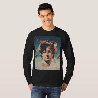 T-shirt Chemise de douille d'hommes esthétiques de statue