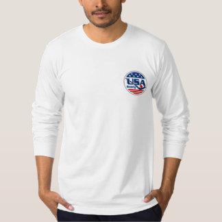 T-shirt Chemise de douille du logo des hommes longue