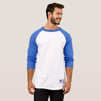 T-shirt Chemise de douille du raglan 3/4 du champion des