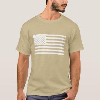 T-shirt Chemise de drapeau américain - texte blanc