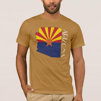 T-shirt Chemise de Drapeau-Carte de l'Arizona