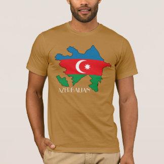 T-shirt Chemise de Drapeau-Carte de l'Azerbaïdjan