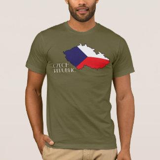 T-shirt Chemise de Drapeau-Carte de République Tchèque