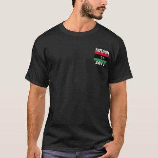 T-shirt Chemise de drapeau de la liberté 2011 de la Libye