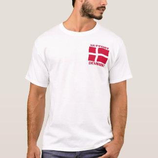 T-shirt Chemise de drapeau du Danemark de soutien