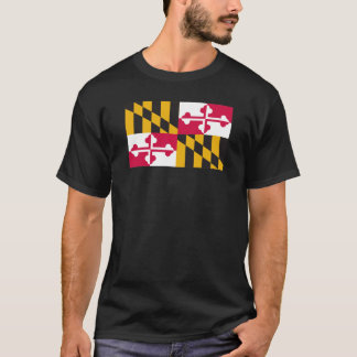 T-shirt Chemise de drapeau du Maryland