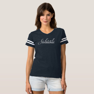 T-shirt Chemise de fantaisie du football du psychologue