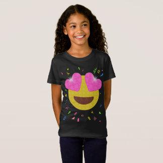T-Shirt Chemise de fête d'anniversaire d'Emoji - le coeur