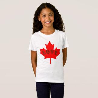 T-Shirt Chemise de feuille d'érable rouge de jour du