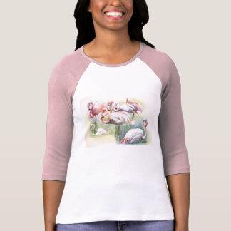 T-shirt Chemise de fiesta de flamant