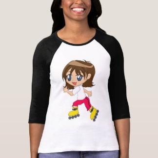T-shirt chemise de fille de Rouleau-aubage